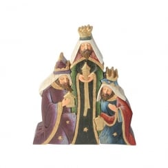 Christmas Nativity Three Wise Men Group Colour Figurine