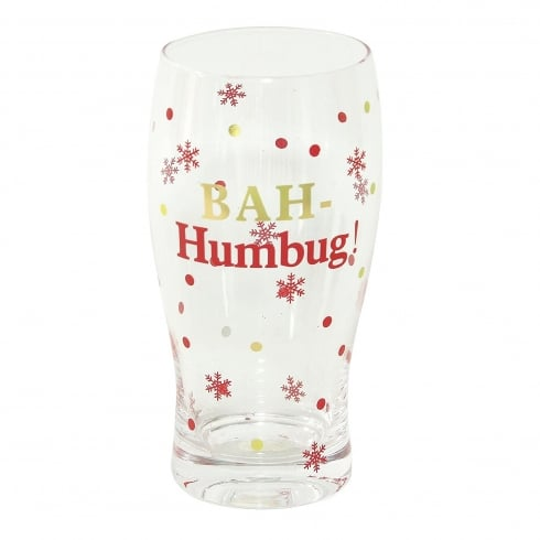 Widdop Bingham Christmas Pint Glass Bah Humbug