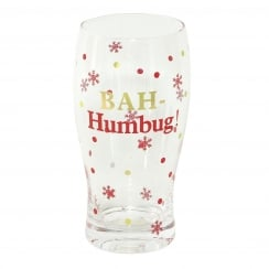 Christmas Pint Glass Bah Humbug