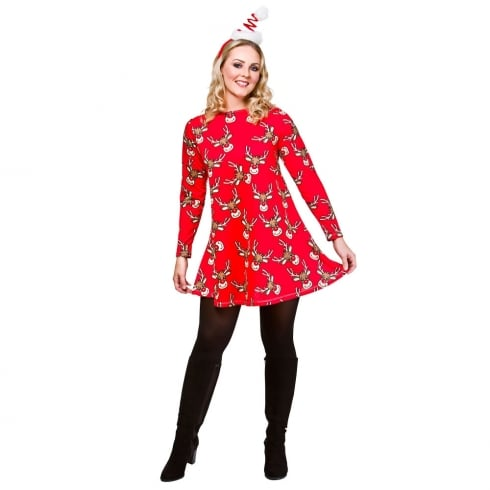 Wicked Costumes Christmas Reindeer Dress (M)