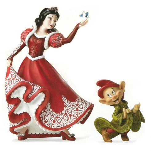 Disney Showcase Christmas Snow White & Dopey Figurine