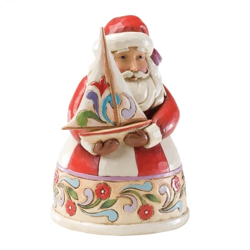 Jim Shore Heartwood Creek Christmas Spirit Fills My Sails Pint Sized Santa With Sailboat