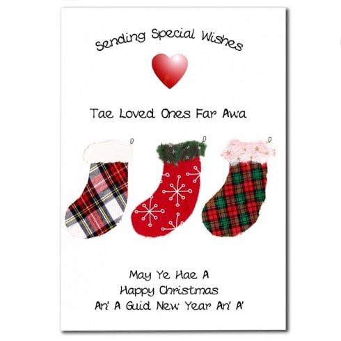 Embroidered Originals Christmas Stockings Christmas Card
