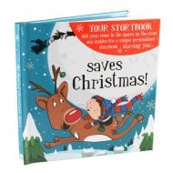 Christmas Storybook - Saves Christmas Blue Male Version
