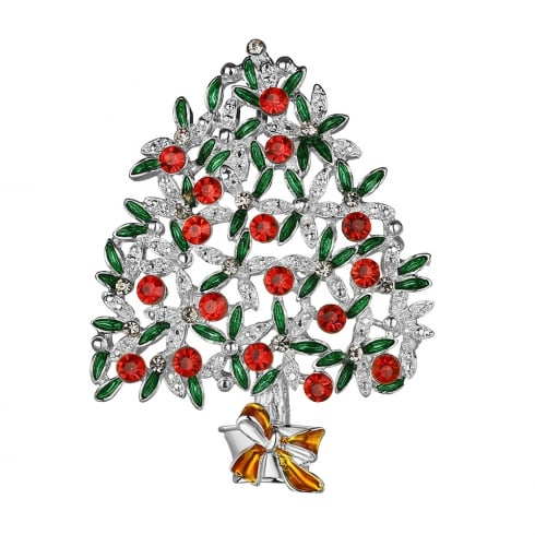 Newbridge Silverware Christmas Tree With Coloured Stones Hanging Decoration