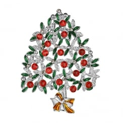 Christmas Tree With Coloured Stones Hanging Decoration