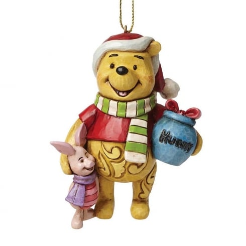 Disney Traditions Christmas Winnie the Pooh with Piglet Hanging Ornament