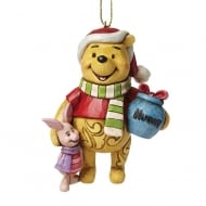 Christmas Winnie the Pooh with Piglet Hanging Ornament