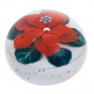 Christmas Winter Poinsettia Paperweight