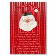 Christmas Wishes Santa Poem Christmas Card