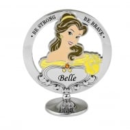 Chrome Plated Freestanding Beauty and the Beast Belle Ornament
