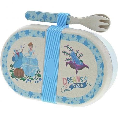 Disney Enchanting Collection Cinderella - Organic Bamboo Snack Box with Cutlery