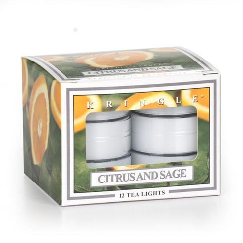 Kringle Citrus And Sage 12 Scented Tea Lights