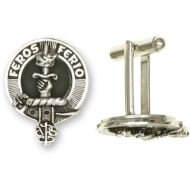 Clan Crest Cufflinks Rampant Lion