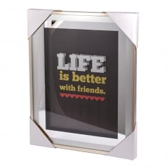 Classy & Fab Silver Frame Life is