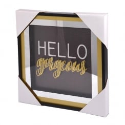 Classy & Fab Small Gold Frame Hello Gorgeous