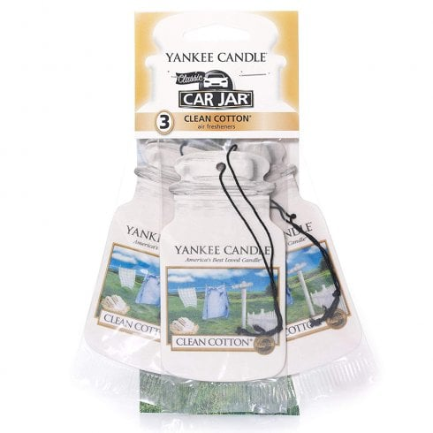 Yankee Candle Clean Cotton Car Jar Air Freshener Pack Of 3