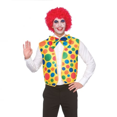 Wicked Costumes Clown Waistcoat With Bow Tie