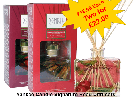 Yankee Candle Multi-Buy Offer two Signature Reed Diffusers for only £22.00