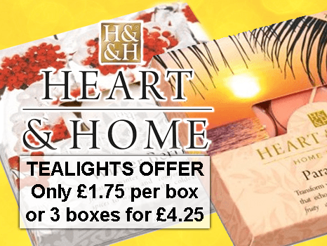 Heart & Home Tealight Fragrance Candles Multi-Buy Offer