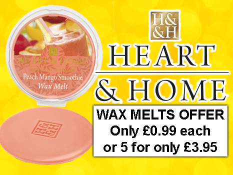 Home & Heart Wax Melt Five for £3.95 Multibuy offer.