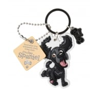 Cocker Spaniel Black Keyring