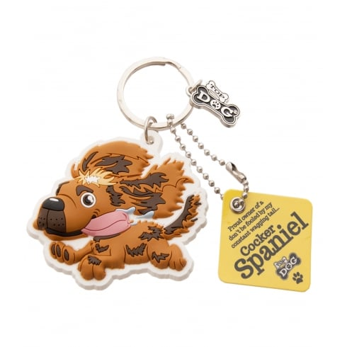 Wags & Whiskers Cocker Spaniel Brown Keyring