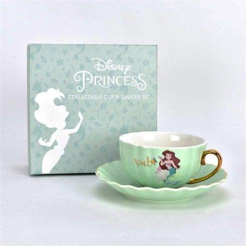 Widdop & Co. Collectable Disney Princess Ariel Little Mermaid Bone China Cup & Saucer D1705