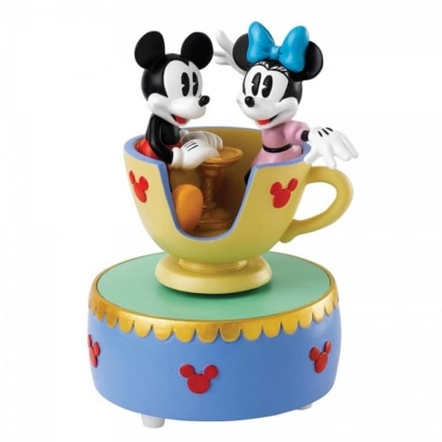 Disney Enchanting Collection Come to the Fair Mickey & Minnie Mouse Teacup Musical