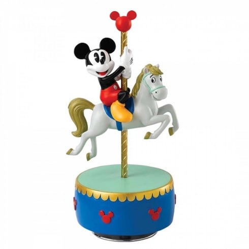 Disney Enchanting Collection Come to the Fair Mickey Mouse Carousel Musical