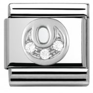 Composable Classic ALPHABET stainless steel Cub. zirc and 925 silver (15_O)