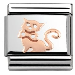 Composable Classic Cat stainless steel and 9k Rose Gold (11_Cat)