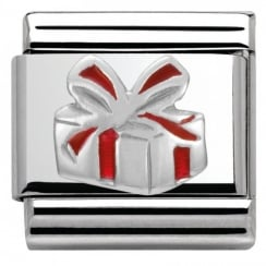 Composable Classic CHRISTMAS in stainless steel enamel and arg. 925 (06_Red Gift Box)