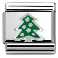 Composable Classic CHRISTMAS in stainless steel enamel and arg. 925 (08_Christmas Tree)