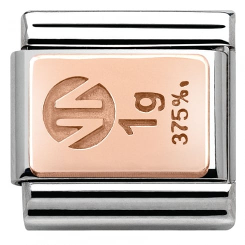 Nomination Composable Classic Gold Bar in stainless steel with 9K rose gold (01_Gold Bar)
