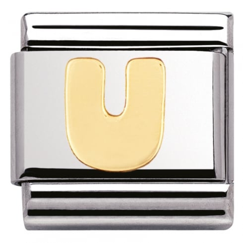 Nomination COMPOSABLE Classic LETTERS in stainless steel with 18k gold (21_U)