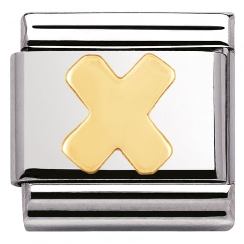 Nomination COMPOSABLE Classic LETTERS in stainless steel with 18k gold (24_X)