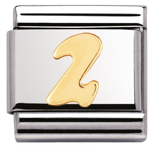 Nomination COMPOSABLE Classic NUMBERS in stainless steel with 18k gold (02_2)
