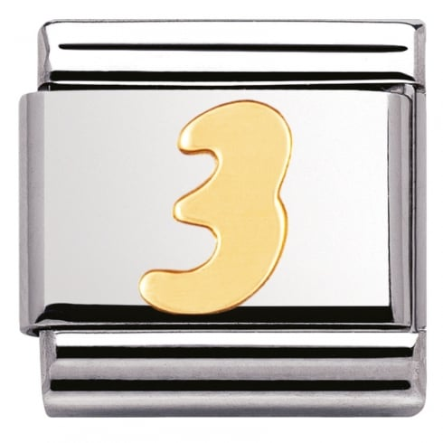 Nomination COMPOSABLE Classic NUMBERS in stainless steel with 18k gold (03_3)