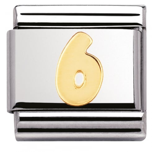 Nomination COMPOSABLE Classic NUMBERS in stainless steel with 18k gold (06_6)