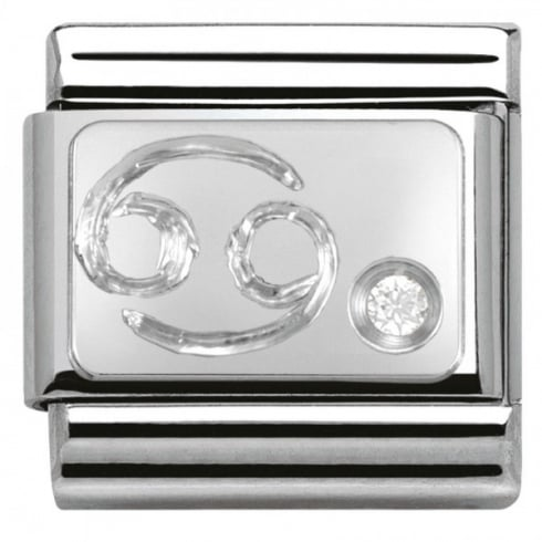 Nomination Composable Classic ZODIAC stainless steel Cub. zirc and 925 silver (04_Cancer)