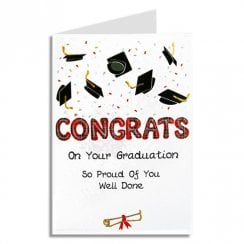 Congrats On Your Graduation Mortars Scottish Card