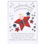Congratulations A Bonnie Wee Baby Scottish Card