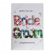 Congratulations Bride and Groom Wedding Tartan Card