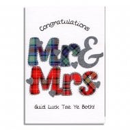 Congratulations Mr & Mrs Scottish Wedding Card