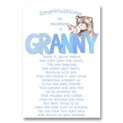 Congratulations On Becoming A Granny New Baby Boy Card