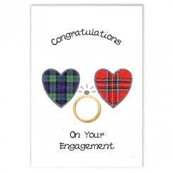 Congratulations On Your Engagement Scottish Hearts Card