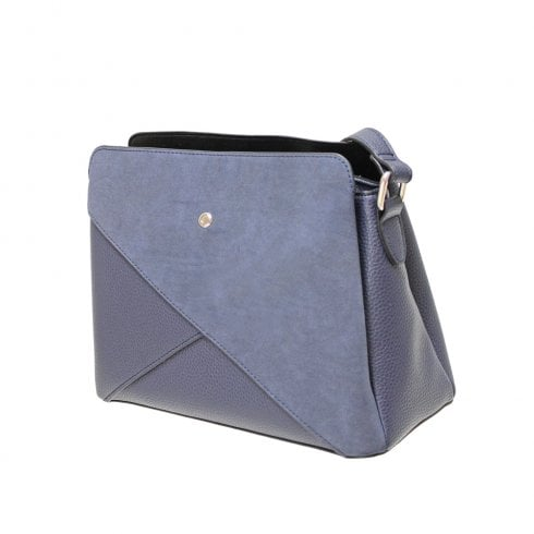Envy Bags Contrast Fabric Shoulder Bag - Navy