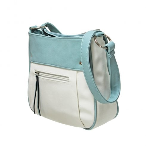 Envy Bags Contrast Panel Shoulder Bag - Blue