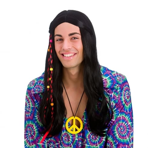 Wicked Costumes Cool Hippie Wig (Black)